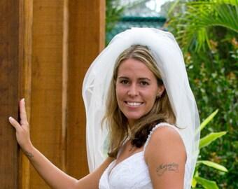 Wedding veil - Bubble veil - waist length