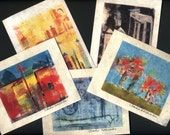 Set of 5 Blank Note Cards with Varied Images