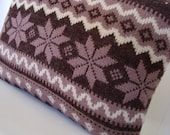 SALE.... Gorgeous Snowflake Knit Sweater Pillow