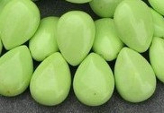 LAST 5-HOWLITE TURQUOISE-Lime Green-18x13mm