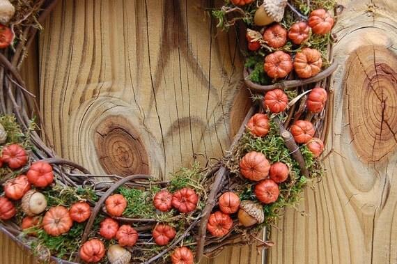 "RESERVED for Elizabeth - 18"" Rustic Fall Wreath /  Putka Pods Baby Acorn Wreath"