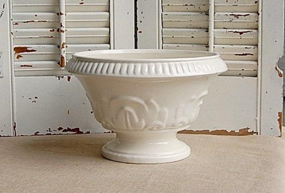 Vintage White Planter Haeger Pottery
