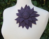 Flower Pin Brooch Wool fashion accessory purple