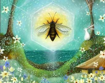 Summer Solstice.  Art print by Amanda Clark.