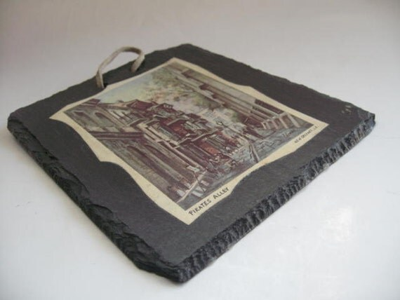 Vintage New Orleans Slate Roof Tiles Featuring Pirates Alley