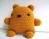 Amigurumi Golden Teddy Bear Plush Toy Kawaii Plush Teddy Bear Stuffed Animal Teddy Bear Nursery Decor Plushie Teddy Bear Gift Under 25