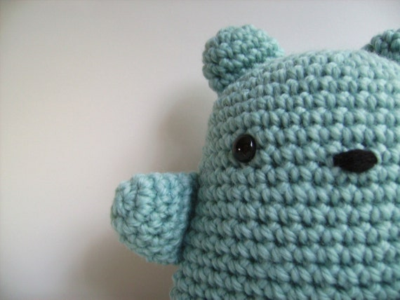 Amigurumi Baby Shower Bears : Items similar to Amigurumi Crochet Baby Blue Teddy Bear ...