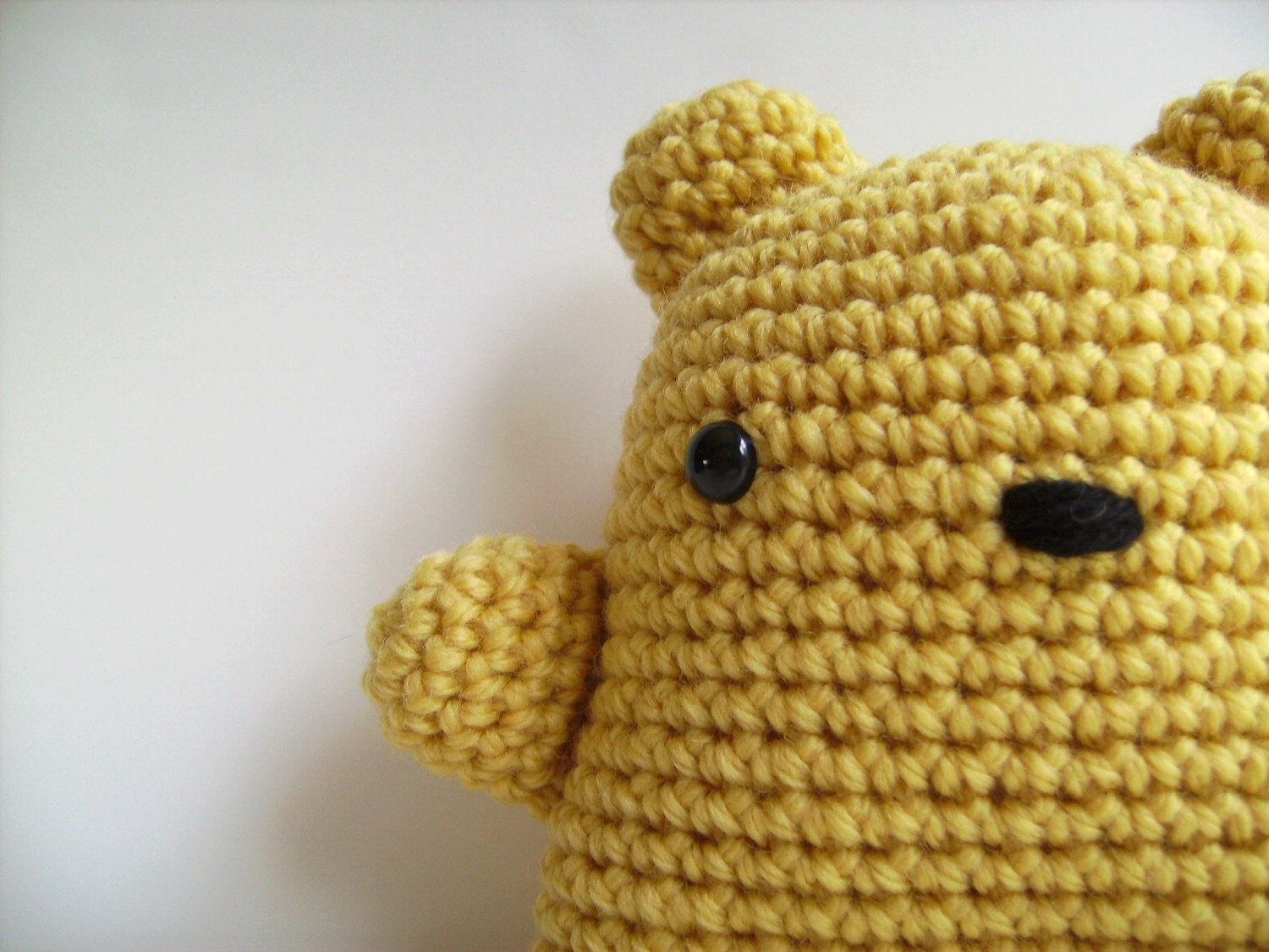 Amigurumi Lemon Yellow Teddy Bear Plush Toy Kawaii by ...