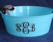 Personalized Round Plastic Container -Qty 5