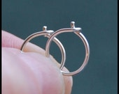 Pair Sterling Silver Nose Hoops - CUSTOMIZE