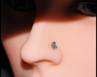 Flower Nose Stud - Where Silver Blooms - CUSTOMIZE