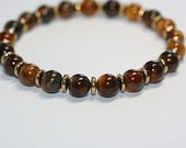 Men's Amber Shell Bead Bracelet