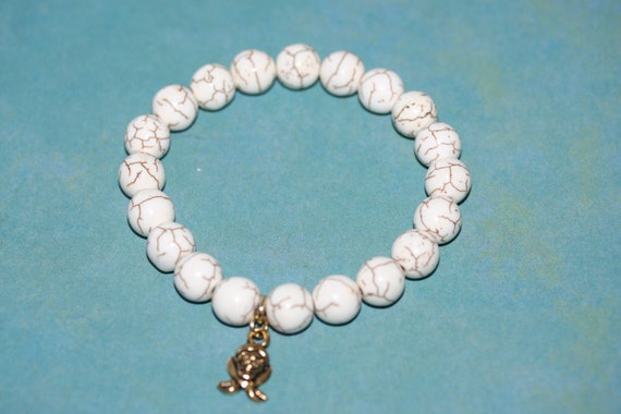 Men's Ivory Howlite Natural Gemstone Bracelet