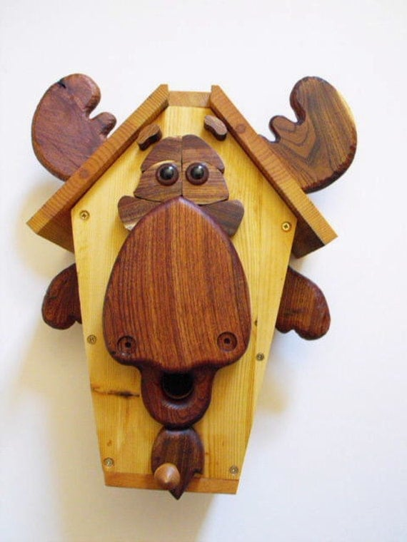 Mickey Moose Birdhouse Wood