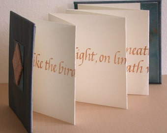 "CALLIGRAPHY QUOTE BOOK - ""Be like the bird..."" by Victor Hugo"