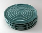Dessert Plates, Serving Plates, Ceramic Tableware, Stoneware Plates, Dragonfly Pottery, Set of 6