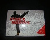 upcycled chuck norris postcards silouette