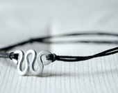 For Him Bracelet  - Aluminium wire and waxed cotton - Men and Unisex - Vegan friendly