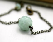 Amazonite Bracelet on brass chain