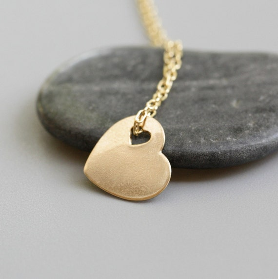 Tiny heart necklace in 14K Gold filled
