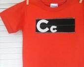 Boy's Red Retro Monogram Shirt