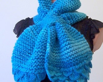 Women  Chunky Scarf  Turquoise winter scarf  Knit  Cowl   Scarf  Neck warmer  Winter Accessories,  Gift for her Wife Scarf Women Accessories