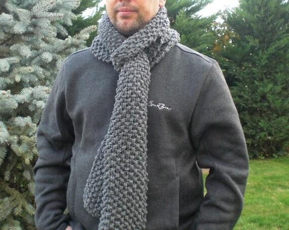 Digital Scarf Knitting PATTERN  PDF for  Beginners Instanddownload Scarf Pattern diy christmas  Unisex women men - menswear fall  winter