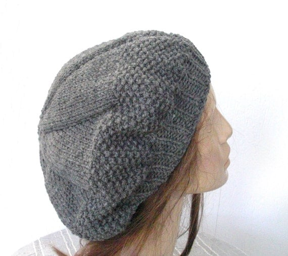 Hand Knitting Patterns For Women : Items similar to hand knit hat womens winter