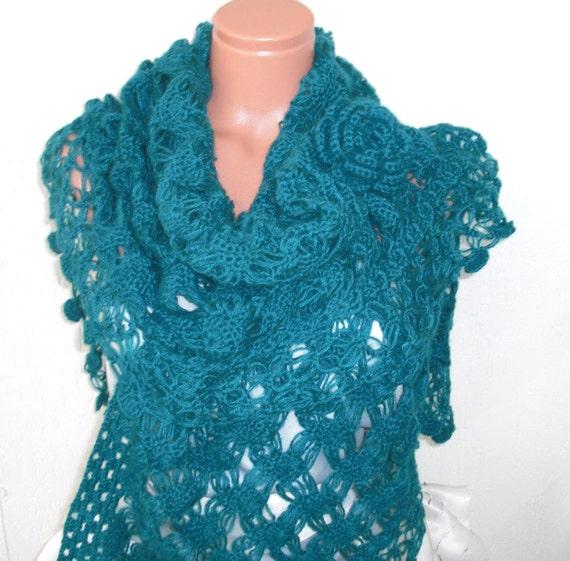 Wedding Shawl fringe shawl Bridal Shawl   Womens shawl  Bridal  Accessories  Lace  Fashion Teal blue  Shawl Spring Wedding Gift Bride gift