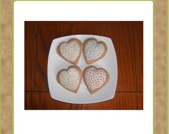Handsewn Sugar Hearts Cookie Set