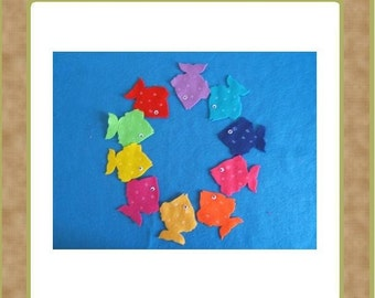 Fish (Color And Counting) - Felt Set - Teacher Resources