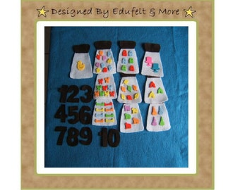 NEW  Counting and Matching with the Number - Felt Set