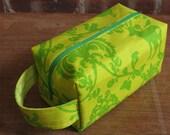 Lime Damask Box Bag - Small
