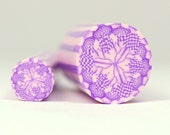 Two for One Price - Purple and Pink Polymer Clay Raw Unbaked Kaleidoscope Cane