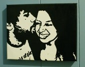 RESERVED Custom, Hand Painted Portrait