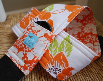 Camera Strap Orange Dolce Reversible Lens Cap Pocket