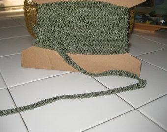 Trim, vintage sage green rayon  1960's