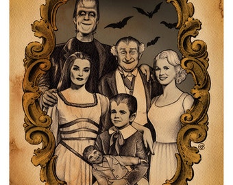 The Munsters (11x14 signed print with border)