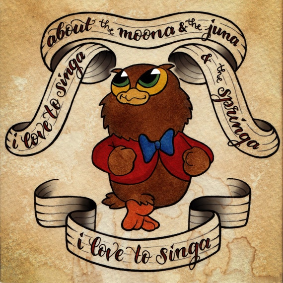 "I Love To Singa (5"" square print)"