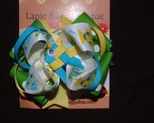 FISH layered loopy boutique hair bow