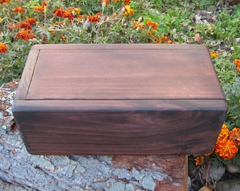 Dark Wood Box, Candle, Photo or Memory Keepsake Boxes