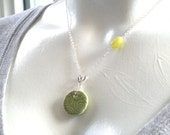 Marsha Neal Cluster Spiral Pendant, Jade, and Sterling Silver Chain Necklace