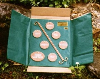 Gift Collection of 7 Earthmarks Herb Garden Markers