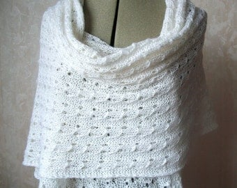 Hand knitted scarf shawl Made to Order