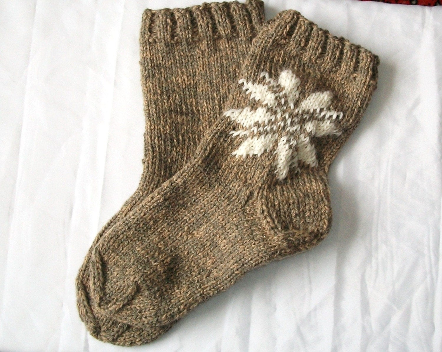 Knitting Pattern Thick Wool Socks : Hand knitted very thick lithuanian wool socks