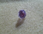 8mm Lavender Round Cubic Zirconia Point Back Stone
