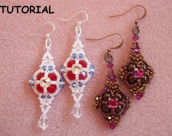 Queens Jubilee PDF Bead Weaving Earring Tutorial (INSTANT DOWNLOAD)