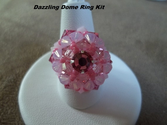KIT Dazzling Dome Ring Pink Colors