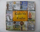 canticle of creatures st. francis assisi majolica deruta
