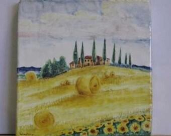 tuscany landscape florence majolica deruta